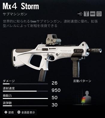 アリバイMx4 Storm